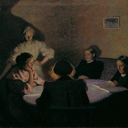 Ester Almqvist, Familjegrupp, 1909, olja, Jönköpings läns museum