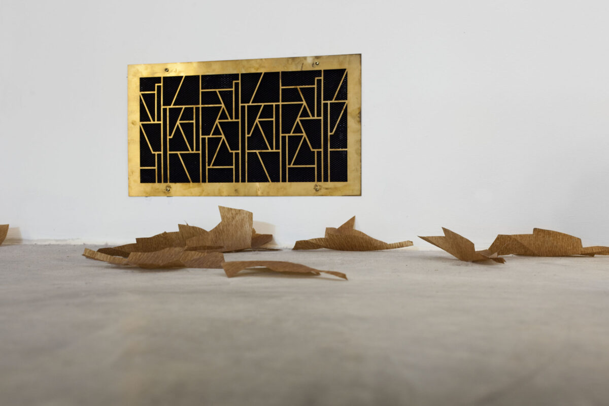 Martin Boyce, Ventilation Grills (Concrete Autumn), 2005, Evaporated Pools, 2009. Foto: Jean-Baptiste Béranger