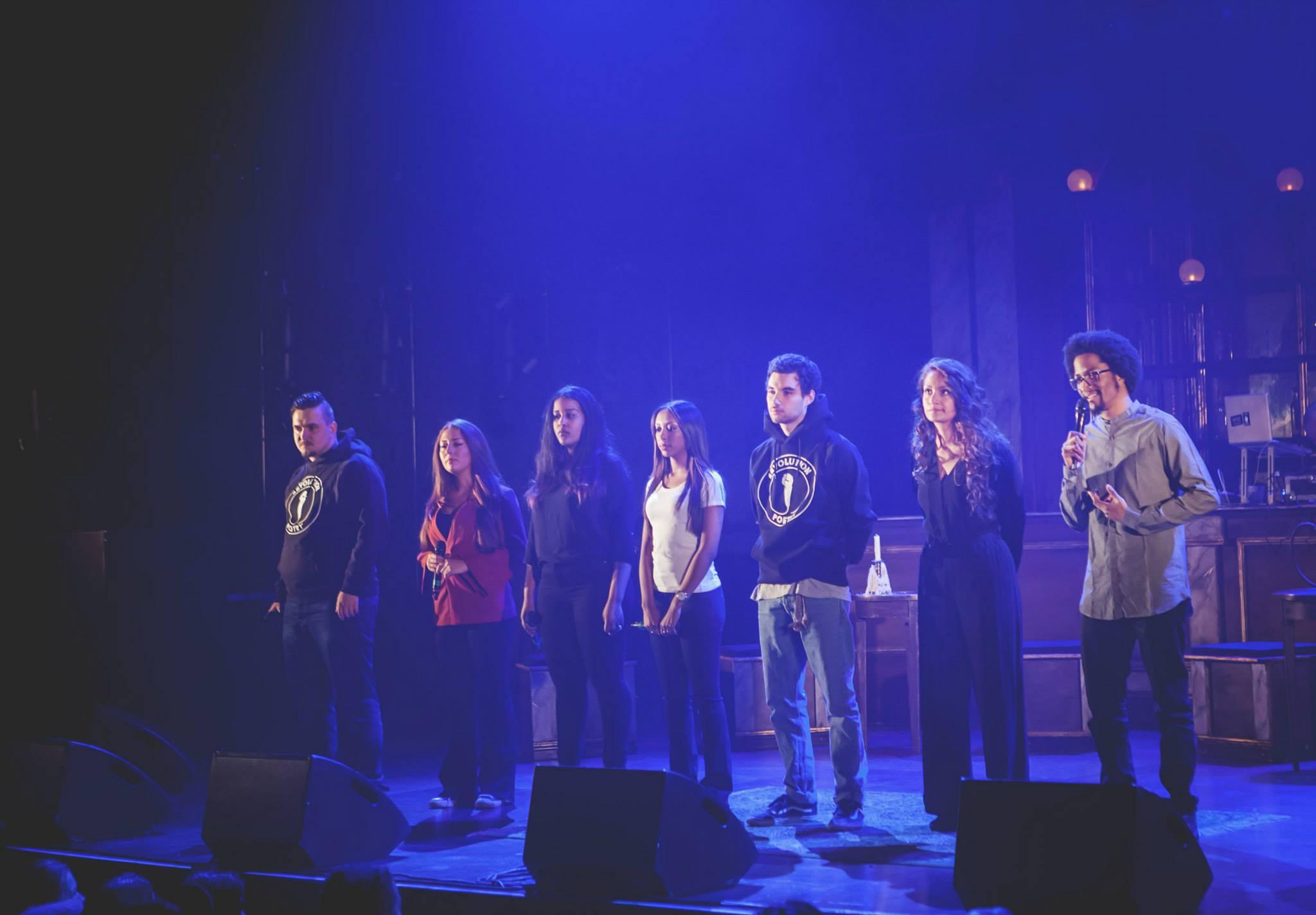 Salih Bilic, Nawroz Zakholy, Makda Embaie, Yodit, Girmay, Neftali Cienfuegos, Rojda Sekersöz, S.T.I.C.S. på Folkoperan 2015. Foto: Cim Ek.
