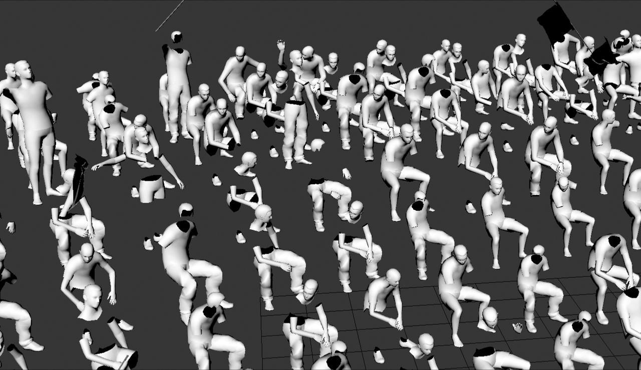 Anna Ådahl, Di-Simulated Crowds, video 2018